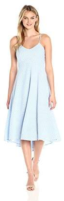 Taylor Dresses Women's Stripe High Low Hem Midi Slip Dress