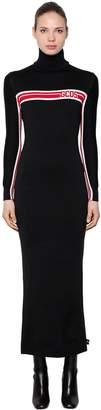 Blend of America Gcds Logo Intarsia Wool Knit Long Dress