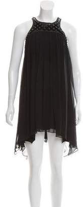 Thomas Wylde Silk Studded Mini Dress