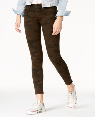Hudson Jeans Camo Print Super-Skinny Ankle Jeans $195 thestylecure.com
