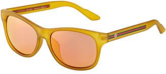 Gucci Plastic Square Sunglasses, Yellow