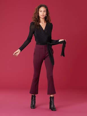 Diane von Furstenberg Long Sleeve Wrap Bodysuit