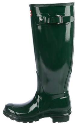 Hunter Rubber Rain Boots w/ Tags Green Rubber Rain Boots w/ Tags