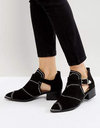 Missguided Cut Out Studded Ankle Boots