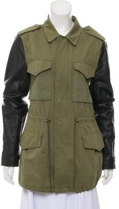 Veda Leather-Accented Cargo Parka