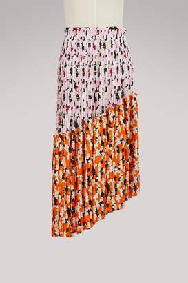 Kenzo Floral asymmetric pleated skirt