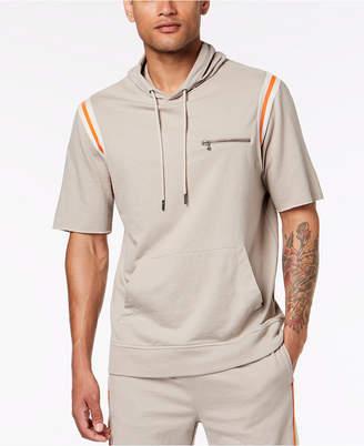 INC International Concepts I.N.C. Men's Hooded Short Sleeve Sweatshirt, Created for Macy's