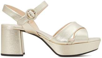 Prada Pearly laminated leather sandals