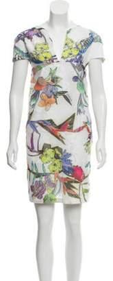 Just Cavalli Floral Print Mini Dress multicolor Floral Print Mini Dress