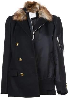 Sacai panelled military jacket