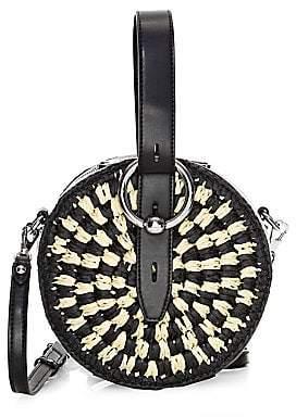 Rebecca Minkoff Women's Kate Woven Two-Tone Circle Bag