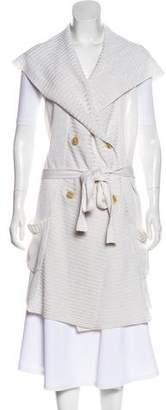 Max Mara Linen Hooded Vest