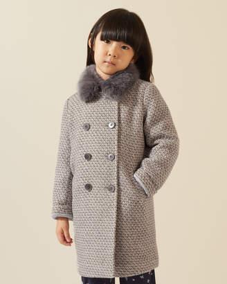 Jigsaw Cosy Faux Fur Collar Coat