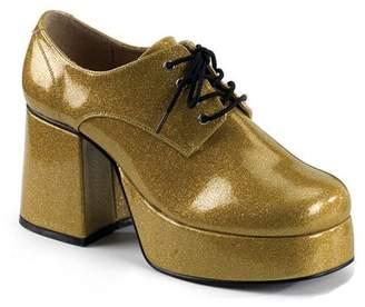 Pleaser USA Funtasma by Men's Jazz-02 Platform Oxford Pearlized Gold Glitter Size -XL