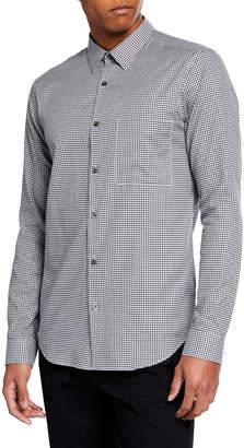 Theory Men's Brushed Gingham Irving Long-Sleeve Sport Shirt