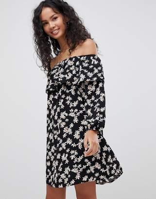 Glamorous Off Shoulder Floral Dress
