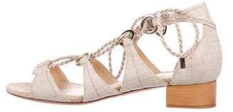 Alexandre Birman Lace-Up Cutout Sandals