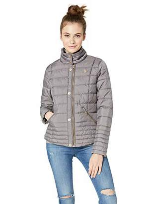 U.S. Polo Assn. Women's Moto Puffer Jacket