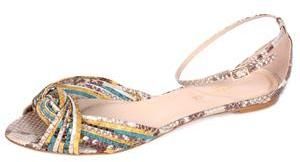 LOEFFLER RANDALL mazzy multi-colored snake skin twist sandal