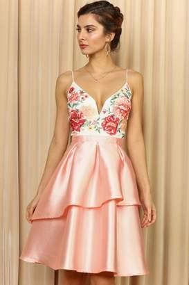 Elegance By Sarah Ruhs Floral Top Dress