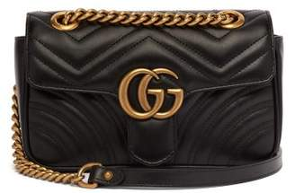 Gucci Gg Marmont Mini Quilted Leather Cross Body Bag - Womens - Black