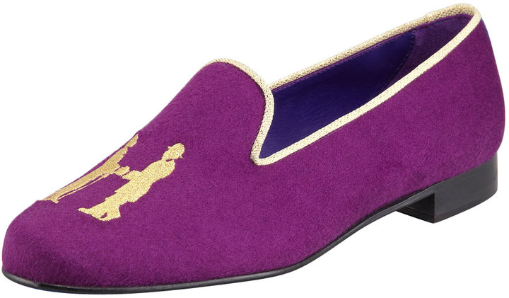 Hadleigh's Audrey Cashmere Gentleman Smoking Loafer