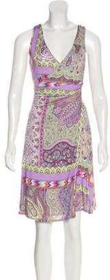 Etro Printed Knee-Length Dress multicolor Printed Knee-Length Dress