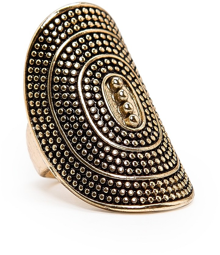 MANGO Oval shaped embossed ring