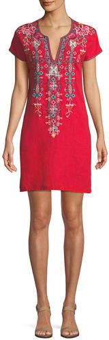 Peta Easy Linen Tunic Dress, Plus Size