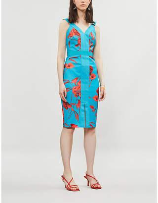 Ted Baker Jordja Fantasia-print midi pencil dress
