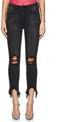 L'Agence Women's High Line Distressed Skinny Jeans - Gray