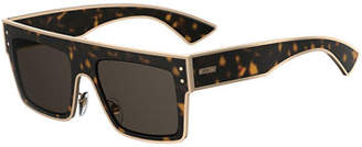 Moschino Rectangle Two-Tone Acetate Sunglasses