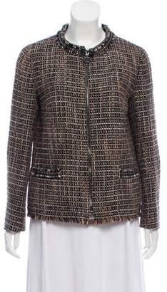 Max Mara 'S Tweed Zip-Up Jacket