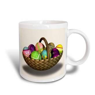 3dRose Easter Eggs Basket 1, Ceramic Mug, 15-ounce