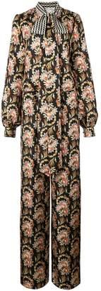 Oscar de la Renta floral print jumpsuit