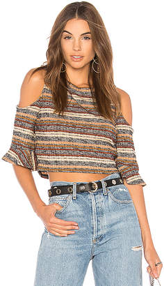 BCBGeneration Mock Neck Crop Top