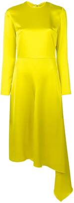 MSGM asymmetric hem bow-back dress