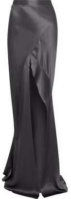 Michelle Mason Split-Front Silk-Charmeuse Maxi Skirt