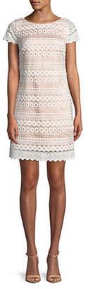 Eliza J Cap Sleeve Shift Dress