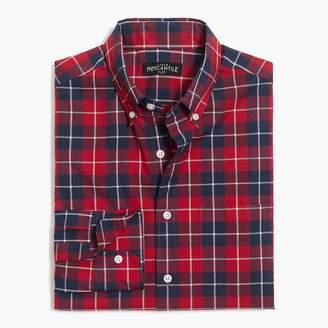 J.Crew Slim flex heather washed shirt in plaid