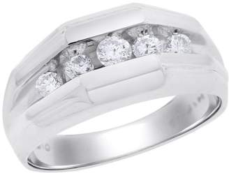 14K White Gold 0.51ct. Diamond Fashion Ring Size 10.25