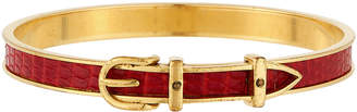 Hermes Estate Lizard Belt Bangle, Red/Gold