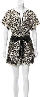 Mayle Leopard Print Lace Romper