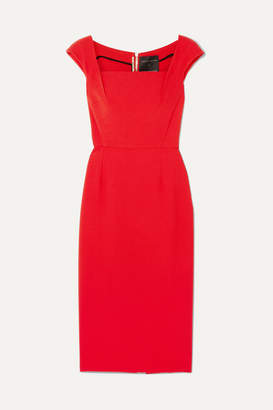 Roland Mouret Maltock Stretch-crepe Dress - Crimson