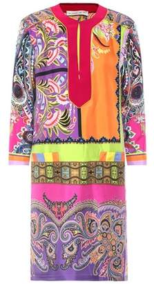 Etro Printed silk satin dress