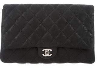 Chanel Matte Caviar New Clutch