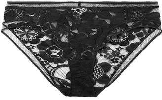 Eres Paperwall Stretch-lace Briefs - Charcoal