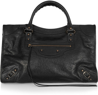 Balenciaga - Classic City Textured-leather Tote - Black $1,950 thestylecure.com