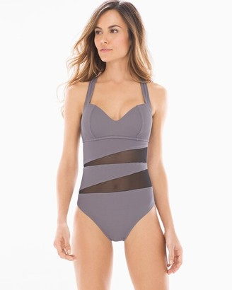 Soma Swim Ribbed One Piece Swimsuit