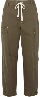 Alexander Wang Washed Cotton-canvas Tapered Pants - Army green